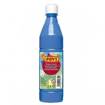 Bote tempera líquida escolar 1000 ml. Azul cyan