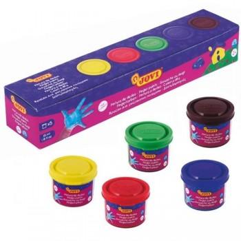 Caja 6 colores surtidos de pintura de dedos 125 ml