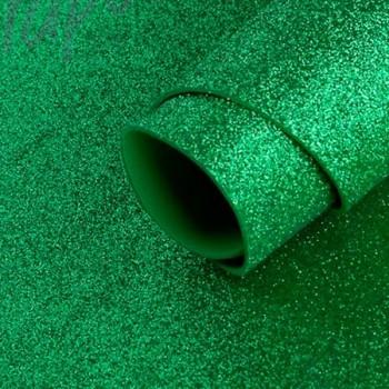 Pack 5 láminas de goma eva con purpurina 2mm 40x60 cm verde