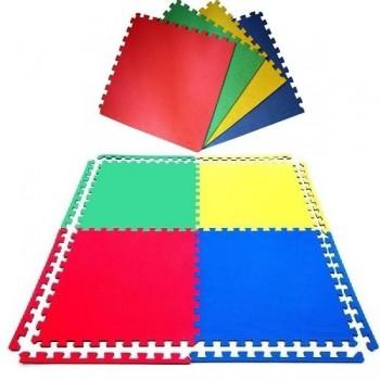 Plancha tapiz Eva 100x100x2,5 cm roja