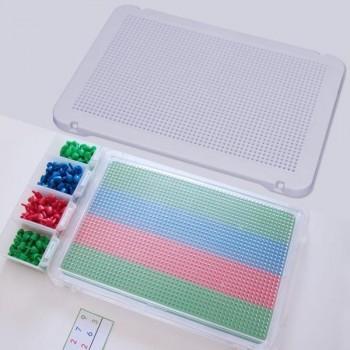 Pack de 6 placas blancas para mosaicos mediante pinchos 31x21 cm