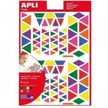 Bolsa gomets multicolor 6 hojas triangulos