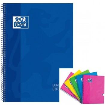Cuaderno espiral microperfonado 80h 5x5 A4+ azul