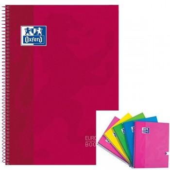 Cuaderno espiral microperfonado 80h 5x5 A4+ rojo