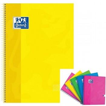 Cuaderno espiral microperfonado 80h 5x5 A4+ amarillo
