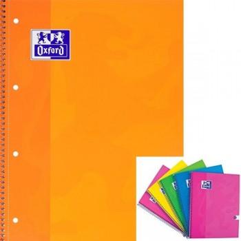 Cuaderno espiral microperfonado 80h 5x5 A4+ naranja