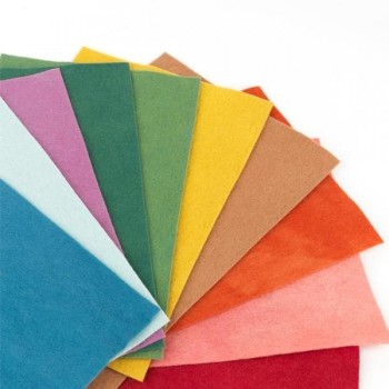Pack 10 ud fieltro 1,75mm, 20x30cm, 170gr colores surtidos