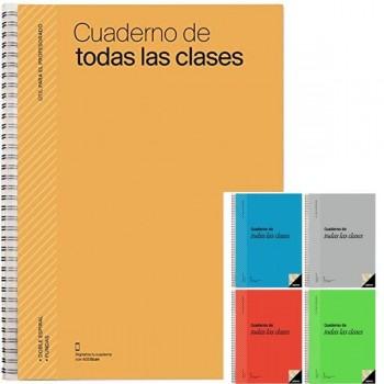 Cuaderno de todas las clases plan del curso evaluación y programación semanal con 4 fundas