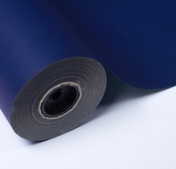 Bobina 10kg papel kraft verjurado 65gr color azul