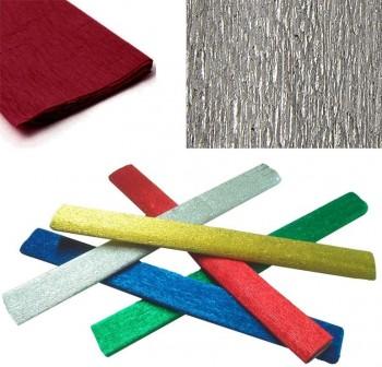 Rollo papel cresp n metalizado 0,5x2,5m 35gr plata