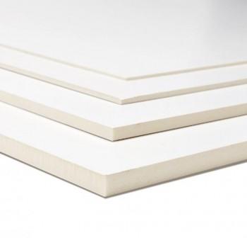 Cartón pluma poliuretano blanco espesor 3mm A4 21x29,7 cm