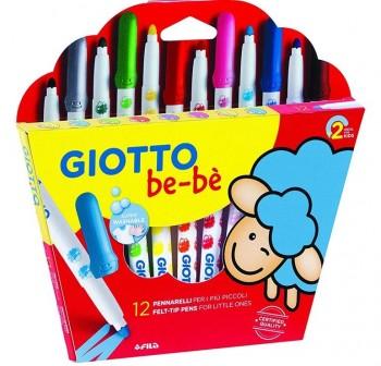 Estuche 12 súper rotuladores Giotto BE-BÔ colores surtidos