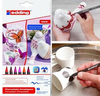 Blister rotuladores para porcelana colores Cálidos