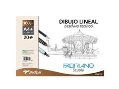 Sobre de papel de dibujo lineal 10h liso 160 gr A4 21x29,7 cm