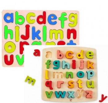 Encajable de madera abecedario letras min sculas