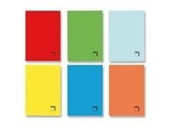 Libreta grapada folio 70gr 50h cuadricula pauta 3,5 colores surtidos
