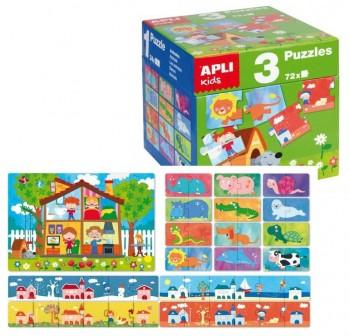 Cubo 3 puzzles diferentes de 24 piezas