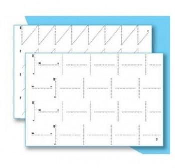 Juego fichas de grafomotricidad 4 repeticiones de 6 fichas dificultad nivel 3