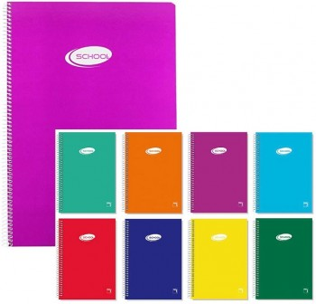 Pacsa Cuaderno tapa cartón Basic  80h 60g cuadrícula 5x5 Folio colores surtidos
