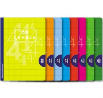 Lamela Libreta grapada 50h 70g cuadrovía 4mm A4 colores surtidos