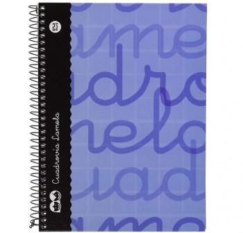 Lamela  Cuaderno tapa forrada 80h 70g cuadrovía 2,5mm 4º azul