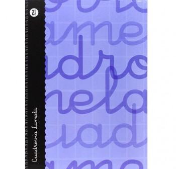 Lamela  Cuaderno tapa forrada 80h 70g cuadrovía 2,5mm Folio azul
