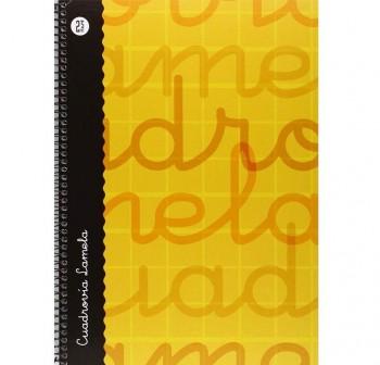 Lamela  Cuaderno tapa forrada 80h 70g cuadrovía 2,5mm Folio naranja