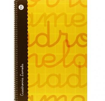 Lamela  Cuaderno tapa forrada 80h 70g cuadrovía 2,5mm Folio amarillo