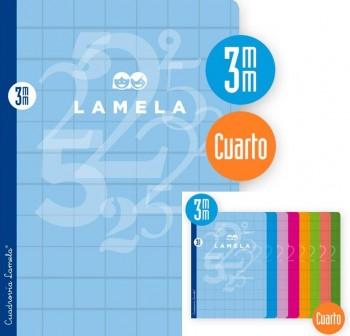 Lamela Libreta grapada 50h 70g cuadrovía 3mm 4º colores surtidos