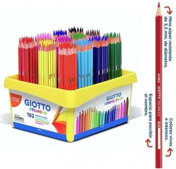 Giotto Caja School Pack 192 lápices de colores Giotto Colors 3.0 colores surtidos