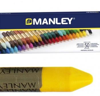 Manley Estuche 50 ceras Manley colores surtidos