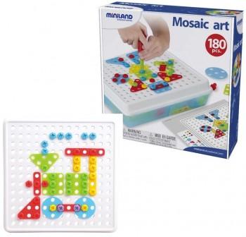 Miniland Caja 180 piezas con herramientas Mosaic Art 3D y 12 actividades de juego