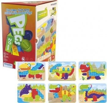 Miniland Pack 1 bandeja, 90 Pegs 20mm y 6 fichas para juego mosaicos