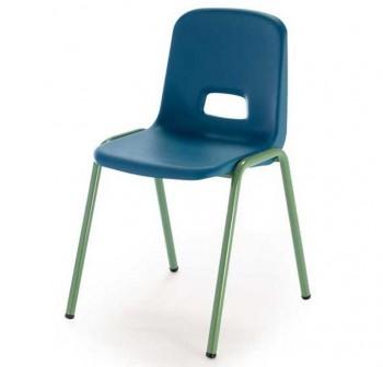 Tagar Silla escolar estructura verde 46x77x49cm altura asiento 46cm carcasa polipropileno azul