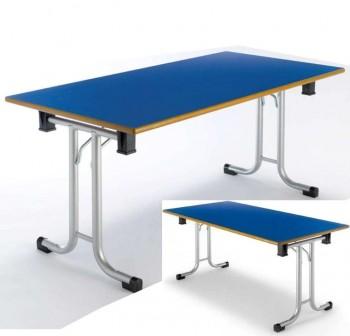Tagar Mesa plegable estructura gris 160x75x80cm azul