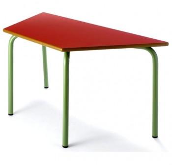 Tagar Mesa infantil rectangular estructura verde 120x54x60cm rojo