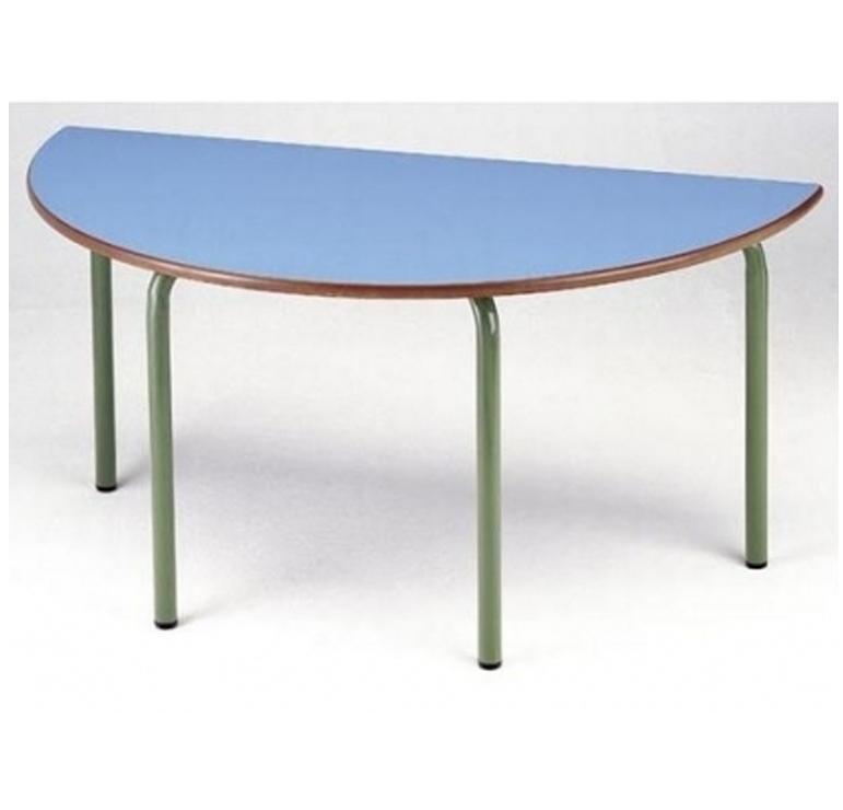 Tagar Mesa infantil semicircular estructura verde 110x54x55cm azul