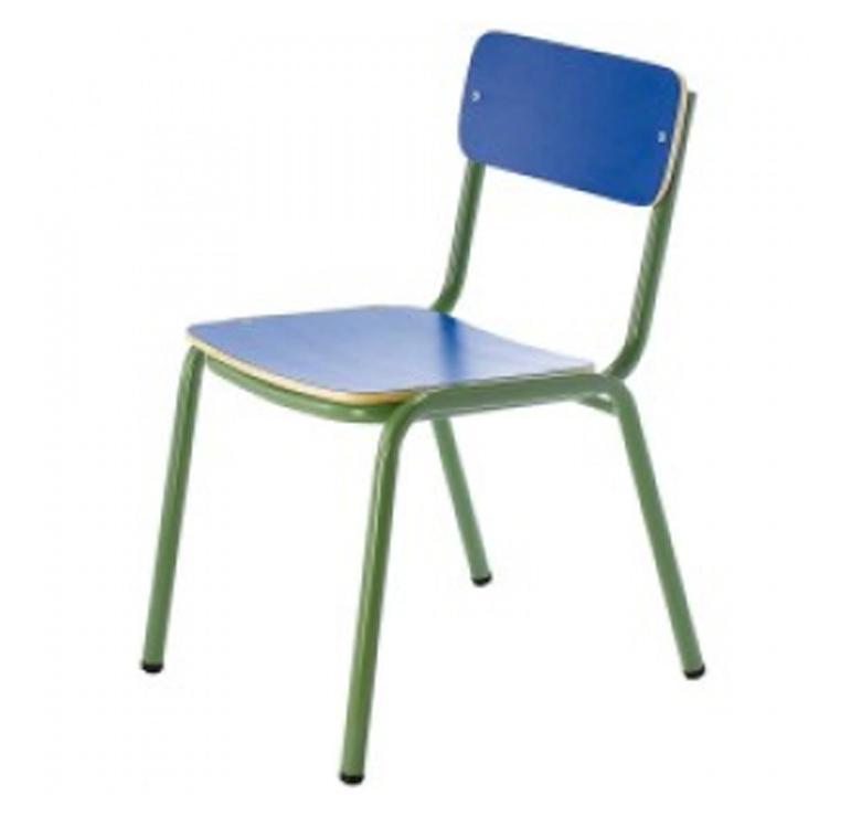Tagar Silla infantil estructura verde 33x58x37 altura asiento 32cm azul