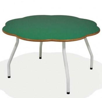 Tagar Mesa infantil estructura blanca   100x60cm verde