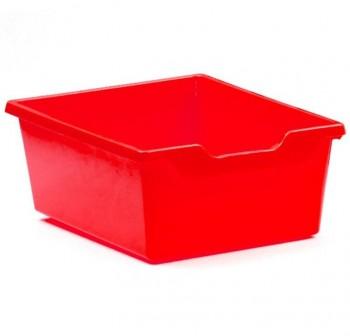 Tagar Gaveta polipropileno doble 15x31x37cm rojo