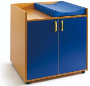 Tagar Mueble cambiador melamina 2 puertas y 2 huecos + cambiador 96x96x73cm desmontado haya puertas