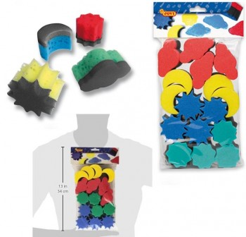 Bolsa 16 esponjas para pintura Jovi 4 formas diferentes