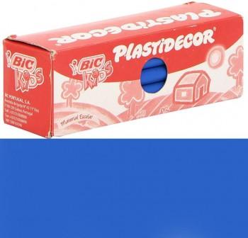 Estuche 25 Ceras Plásticas plastidecor azul claro
