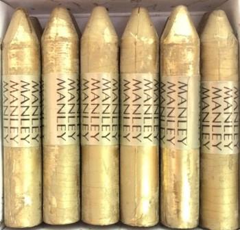 Caja 12 barritas ceras manley oro