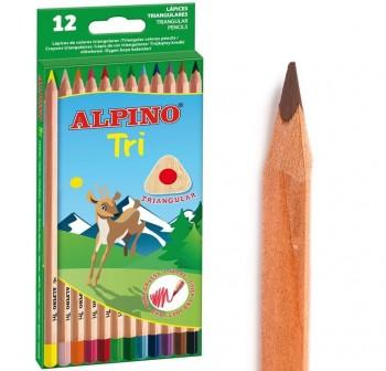 Estuche 12 lapices de colores alpino col, surtidos