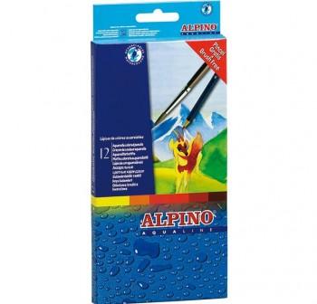 Estuche 12 lapices alpino aqualine mina 3,3Mm colores surtidos