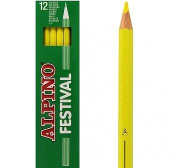 Caja 12 lapices alpino festival amarillo