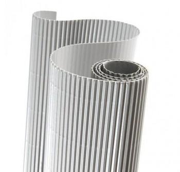 Blister 5 hojas cartón ondulado 50X70cm  plata