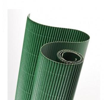 Blister 5 hojas cartón ondulado 50X70cm  verde fuerte