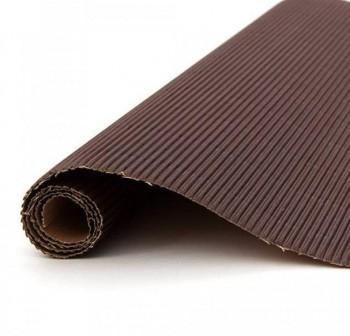 Blister 5 hojas cartón ondulado 50X70cm  marrón